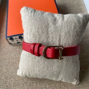 NIB Keep Collective Single Band Red/Pink Leather